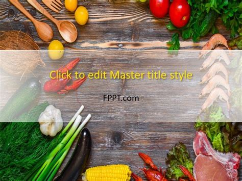 Food And Drinks Powerpoint Templates Food Powerpoint Templates Free
