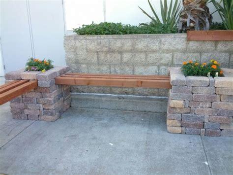 diy rumblestone  beam bench  stone spacers  quot