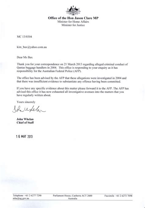 Request Letter To Commissioner For Schapelle Schapelle Corby Another Formal Freedom Of Information Request To The