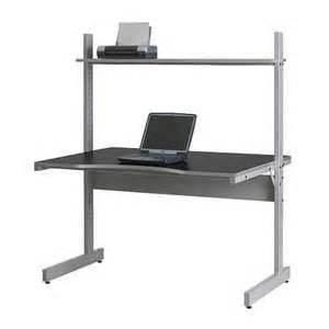 Adjustable Computer Desk Ikea Adjustable Ergonomic Black Finish Laptop Desk Table Stand