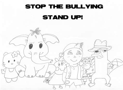 stop bullying coloring pages