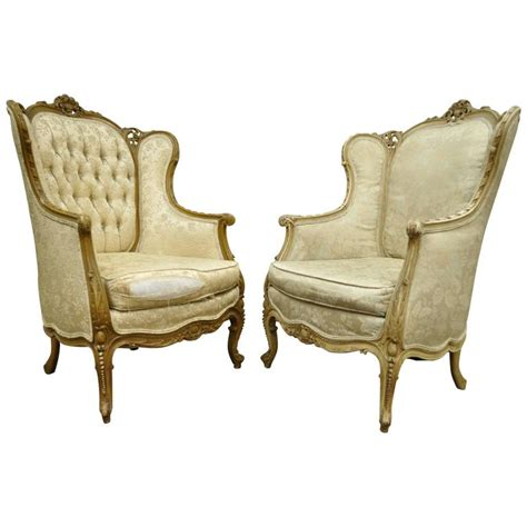 louis xv armchair pair of 1930 s french louis xv style carved wingback