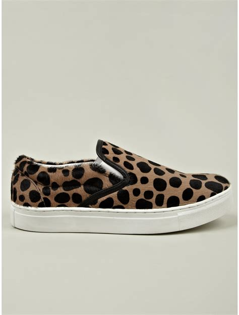 leopard sneakers undercover mens leopard print slip on sneakers in animal