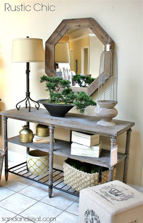 rustic chic entry table foyer ideas havertys home