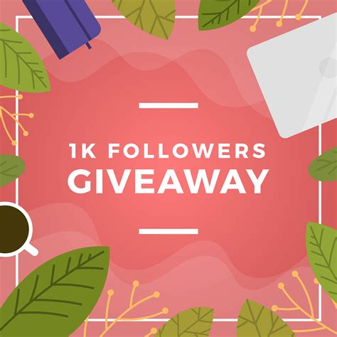 Flat Floral And Stuff Instagram Contest Giveaway Template Vector Background Download Free Instagram Giveaway Template