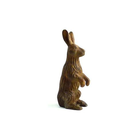 rabbit cast iron door stop cast iron rabbit door stop by marybethhale on etsy