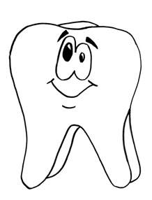 tooth coloring pages growing memories and minds may 2010