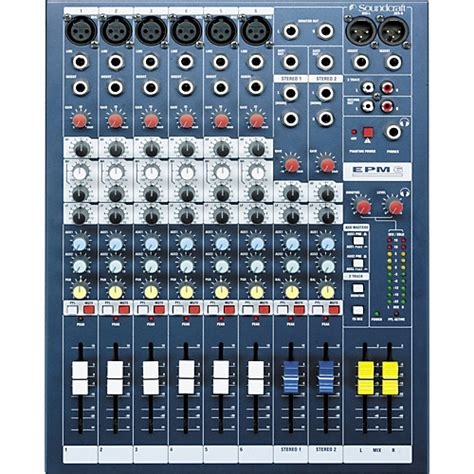 Daftar Mixer Audio Soundcraft soundcraft epm6 6 channel multi format mixer musician s