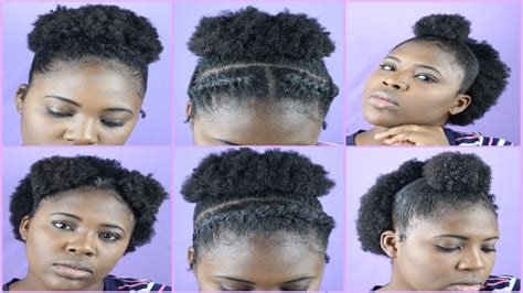 easy 4c hairstyles on the go natural hairstyles tutorial quick easy 4b 4c hair high