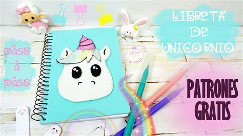 cuadernos decorados de unicornio con foami diy libreta de unicornio con patrones paso a paso