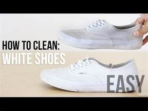 how to clean whiten your shoes easy fashion hack