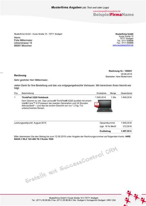 Rechnung Kleinunternehmer Iban Rechnungen Schreiben In Ms Office Einfach Schnellcrm