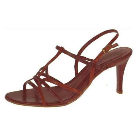 Sandal Wanita New Chaty Heel Sandals Brown Mocca Hr01 brown sandals heeled shoes high heeled sandals uk