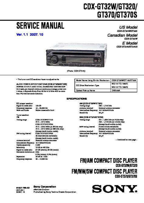 sony cdx gt32w wiring diagram 29 wiring diagram images