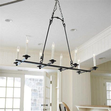 kitchen table chandelier laurel 8 light rectangular chandelier lake house