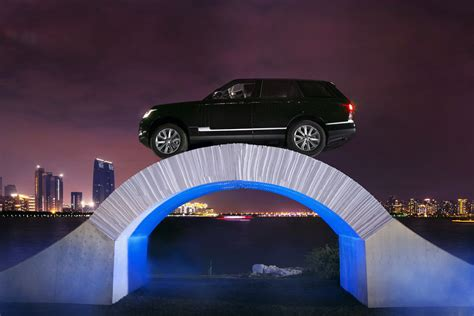 How To Make Paper Bridges - range rover marks 45 years with drive across paper bridge