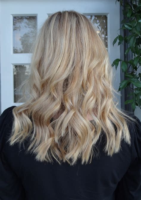 blonde hair with highlights melted butter blonde neil george