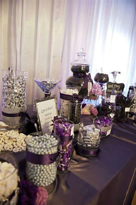 Deep purple wedding candy buffet   My Deep Purple Wedding