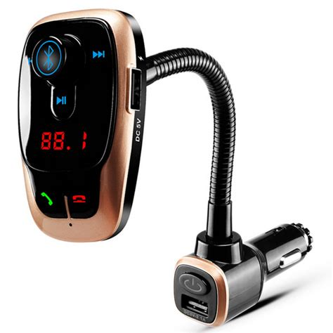 Murah Bluetooth Car Fm Transmitters With Call Function bl106 car kit mp3 play fm transmitter dual usb charger with bluetooth function alex nld