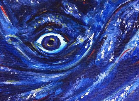 whale eye humpback whale eye painting by dotti price