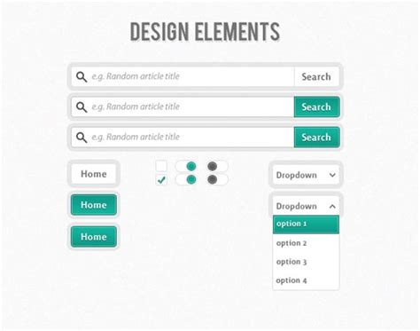 search design 27 beautiful ui kits for web and graphic designers