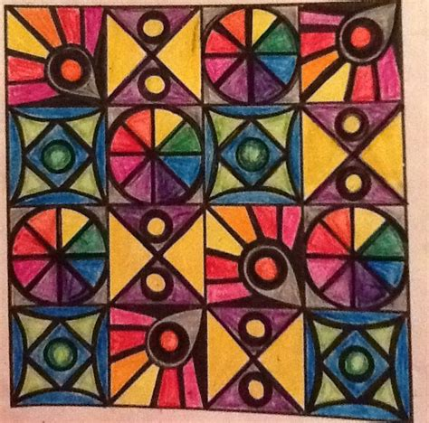 pattern art projects elementary quilt pattern project brag book elementary art pinterest