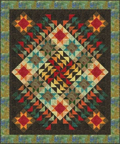 free pattern flight plan batik quilt by marilyn foreman