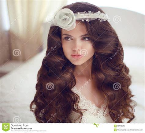 beautiful model with elegant hairstyle stock photo wedding hairstyle beautiful brunette bride girl model