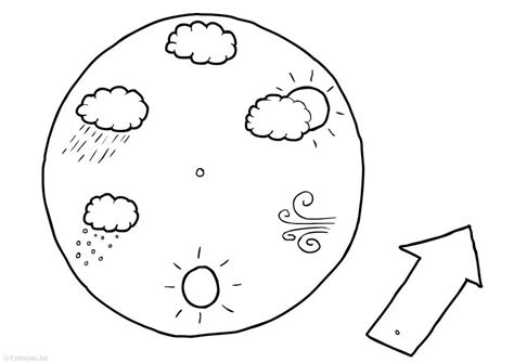 Calendrier Tempo Coloring Page Weather Calendar Img 14756