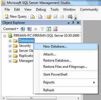 membuat query di sql server tutorial membuat tabel database di sql server 2008