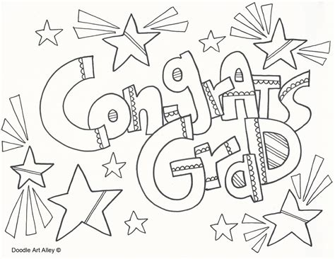 the gallery for gt graduation coloring page