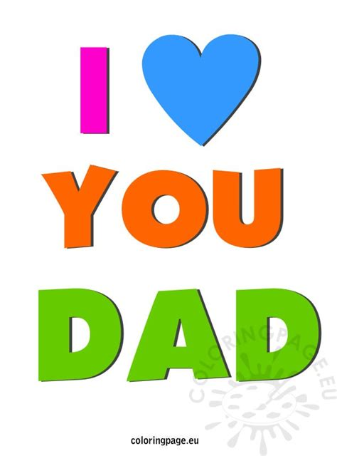 images of love you dad father s day coloring page