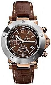 guess gc 1 brown leather timepiece guess
