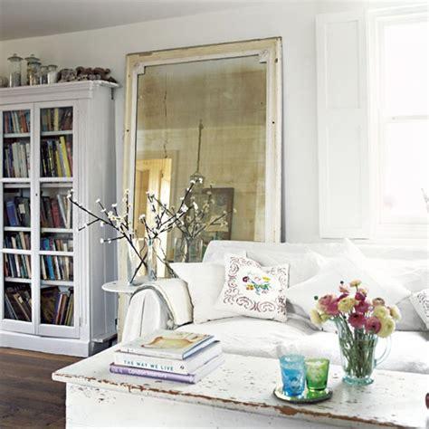 Deco Living Room Mirror Vintage Mirrors Shabby Chic Decorating Ideas 20