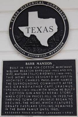 Charles N Keith 1813 barr mansion historical marker