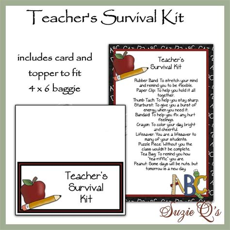 survival kit template s survival kit includes topper and card digital