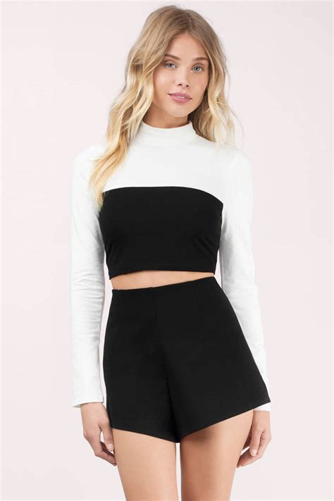 Black And White Top 1 white crop top www imgkid the image kid has it