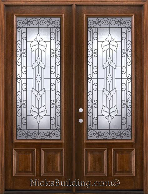 wrought iron patio doors