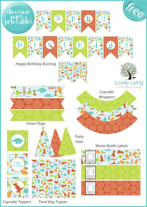 free printable dinosaur birthday decorations roar a dinosaur party b lovely events