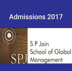 Sp Jain Global Mba Fees In Inr by Sp Jain Mba Gmba Admissions 2017