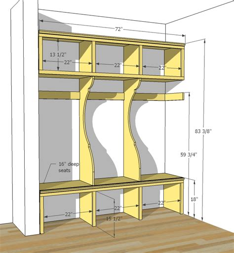 Mudroom Plans | ana white smiling mudroom diy projects