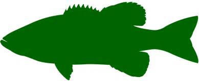 largemouth bass silhouette free vector silhouettes