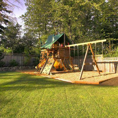 swing set area ideas best 25 backyard playground ideas on pinterest