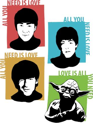 Beatles Yoda Meme - love is all you need yoda star wars k koszulki w cotomoto