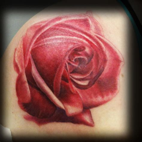 star rose tattoo color flower tattoos hollywoodstarstattoo s