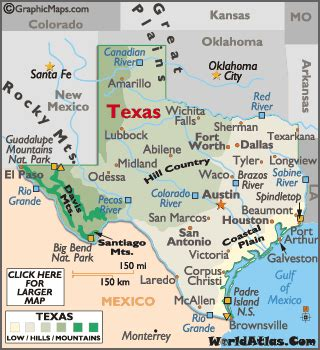 geography map of texas texas map geography of texas map of texas worldatlas
