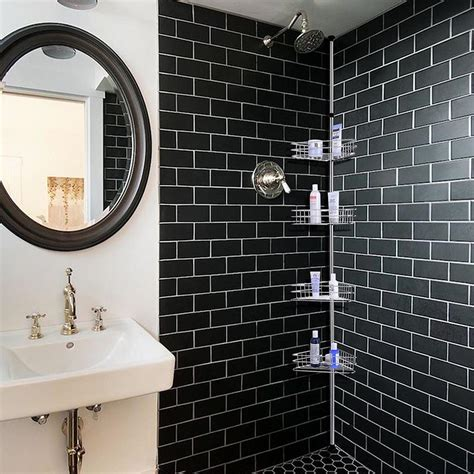 bathroom shower holder 4 layer metal shower corner pole caddy shelf bathroom bath