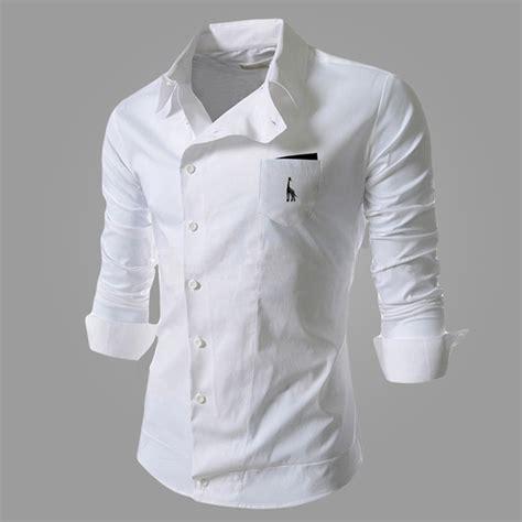 pattern business shirt 2015 new cuff mens formal shirt long sleeve slim fit brand