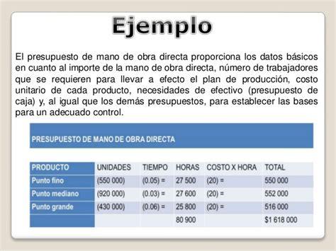 020 ejemplo de presupuesto mano de obra materiales y presuouesto de mano de obra