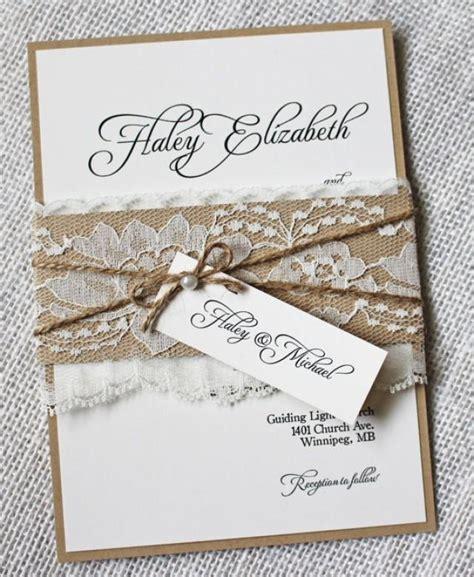 rustic wedding invitations lace wedding invitation shabby chic wedding wedding invitation